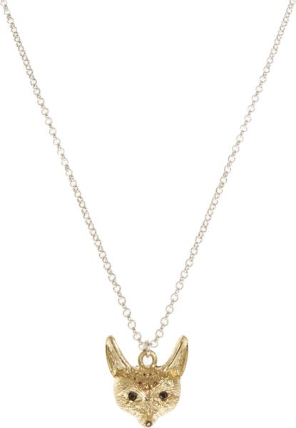 French Connection Fox Pendant Necklace in Gold (goldandsilver) - Lyst