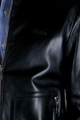 Gucci Classic Leather Jacket in Black for Men - Lyst