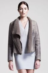 Helmut Lang Weathered Shearling Jacket - Lyst