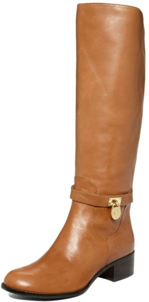 Michael Kors Hamilton Riding Boots in Brown (luggage leather) - Lyst