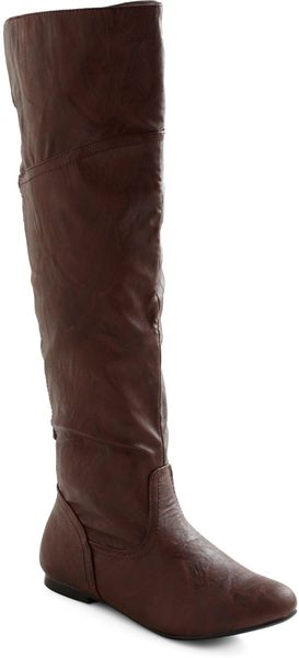 Modcloth Get Stitched Quick Boot in Brown in Brown - Lyst