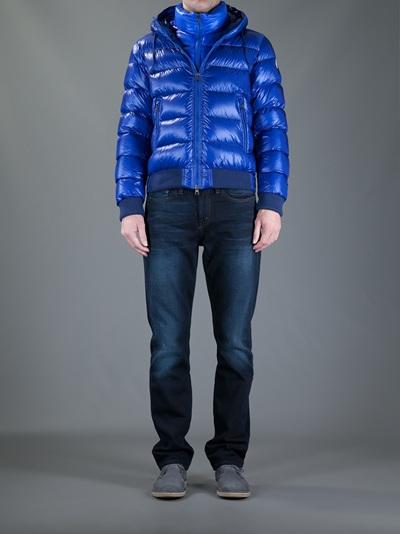 Moncler Marque Jacket In Blue For Men Lyst