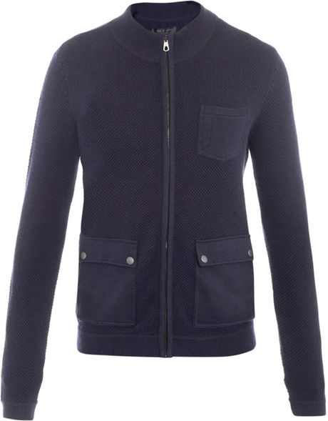 Rag & Bone Knitted Alps Jacket in Blue for Men (navy) - Lyst