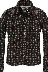 Tommy Hilfiger Long Sleeve Floral Fitted Shirt with Intricate St - Lyst