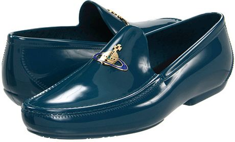 Vivienne Westwood Man Plastic Moccasin with Orb in Blue (5) - Lyst