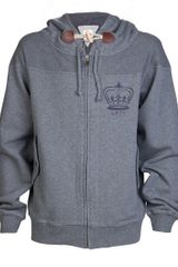 Vivienne Westwood Zip Up Hoodie in Gray for Men (grey) - Lyst