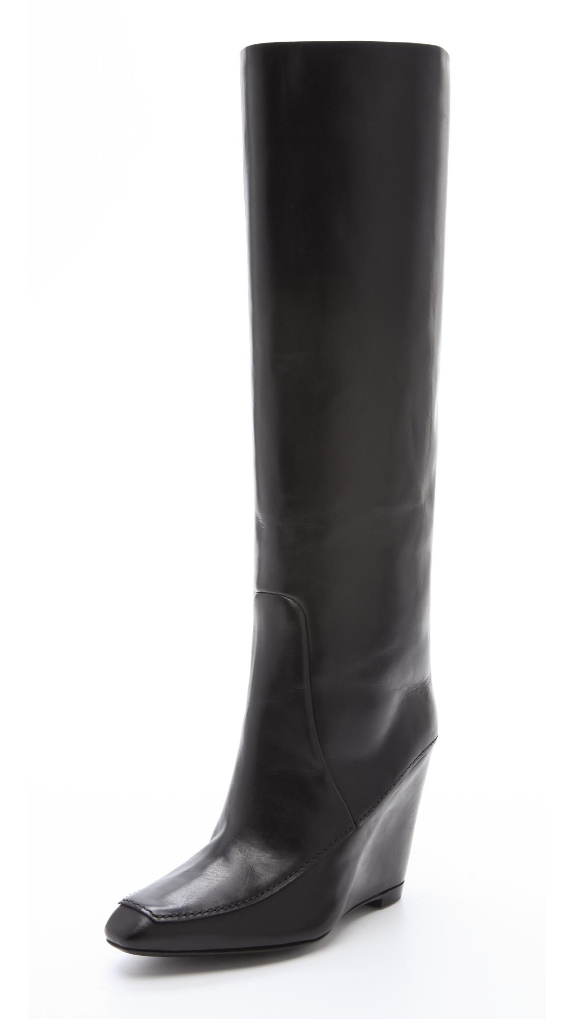 Alexander Wang Black Tall Cowboy Boots