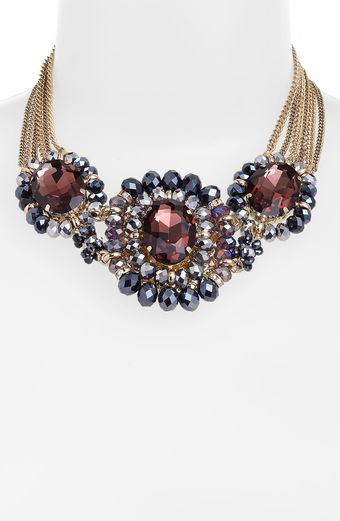 Cara Accessories Cara Multi Stone Statement Necklace - Lyst