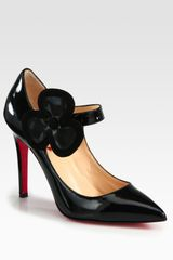Christian Louboutin Pensee 120m Patent Leather Suede Pumps in Black - Lyst