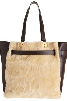 Christian Louboutin Shearling Large Sybil Shopper - Lyst