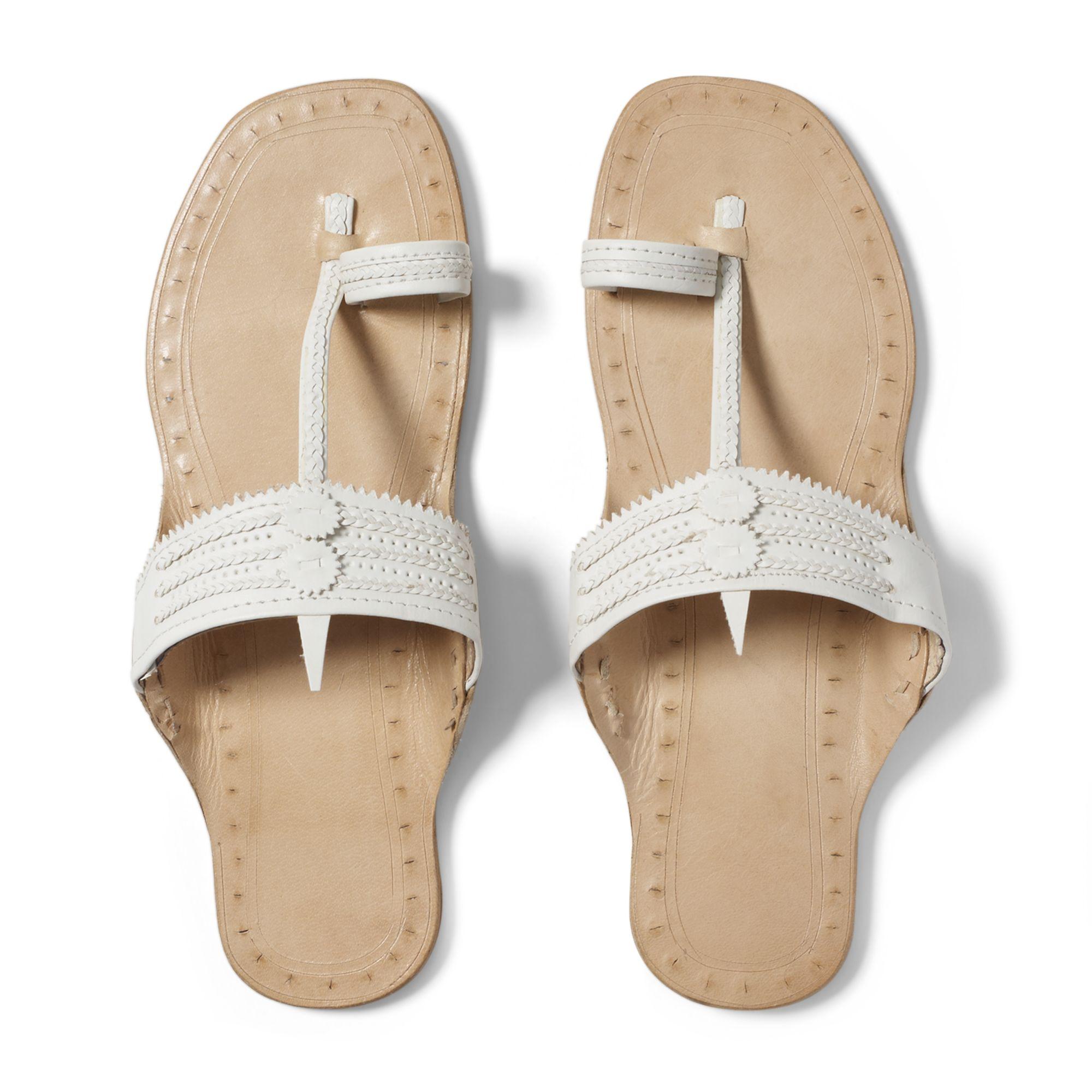 2858d8381d62 Lyst - Club Monaco Indian Sandals in White