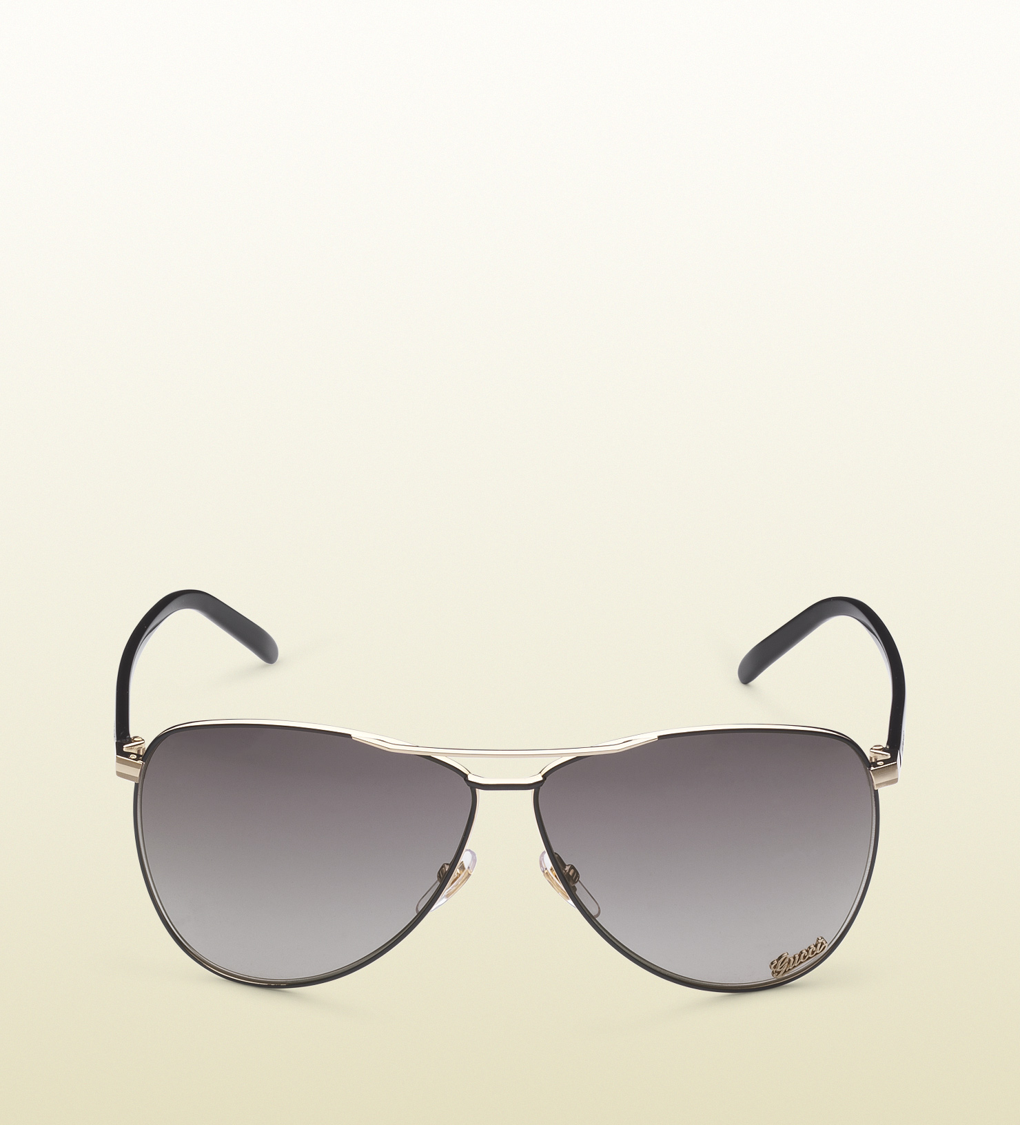 28eeda0278 Lyst - Gucci Aviator Sunglasses with Gucci Signature Pad On Lens and ...