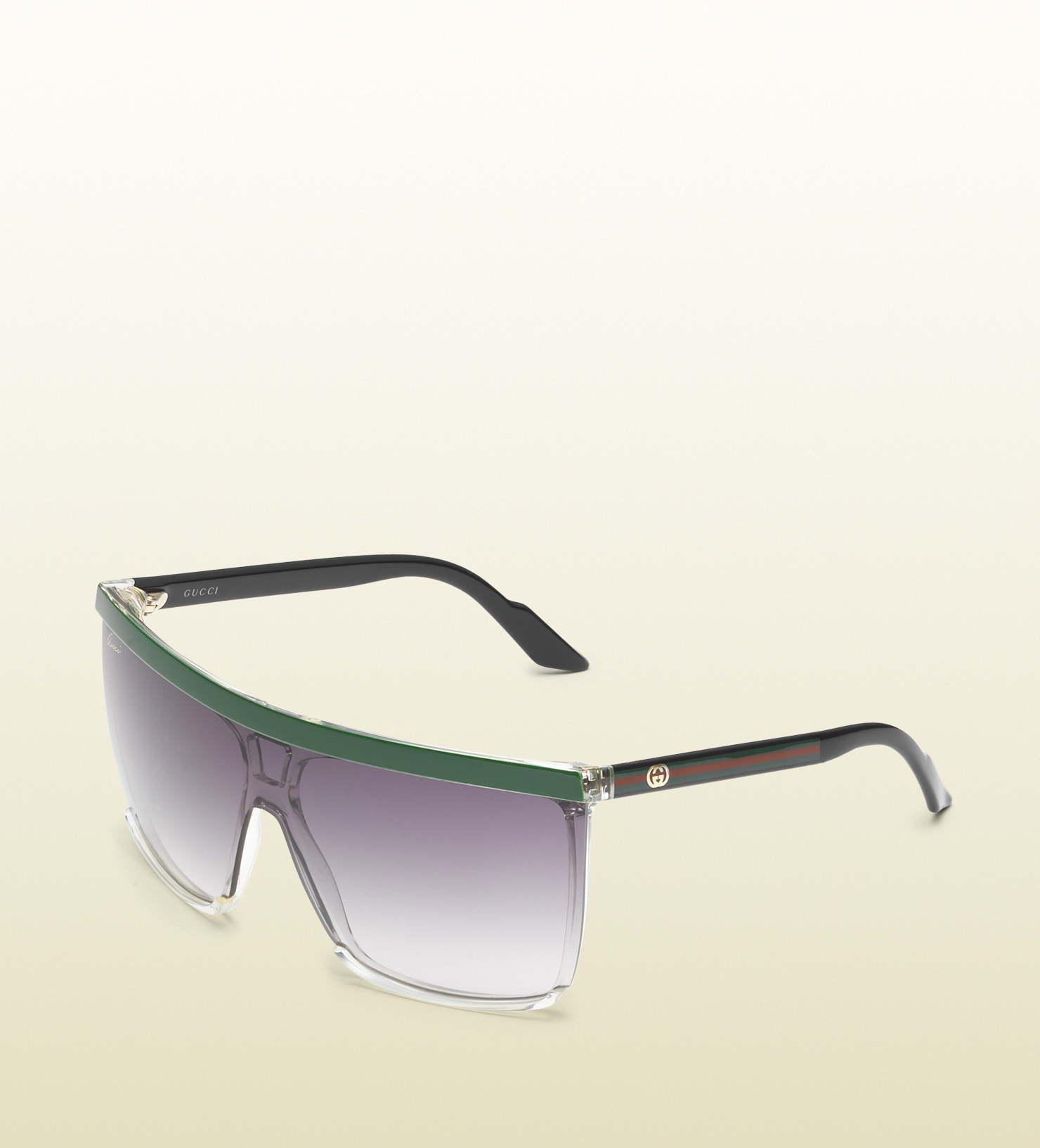 aad01f28ca3 Lyst - Gucci Large Rectangle Frame Sunglasses with Gg Logo On Web ...