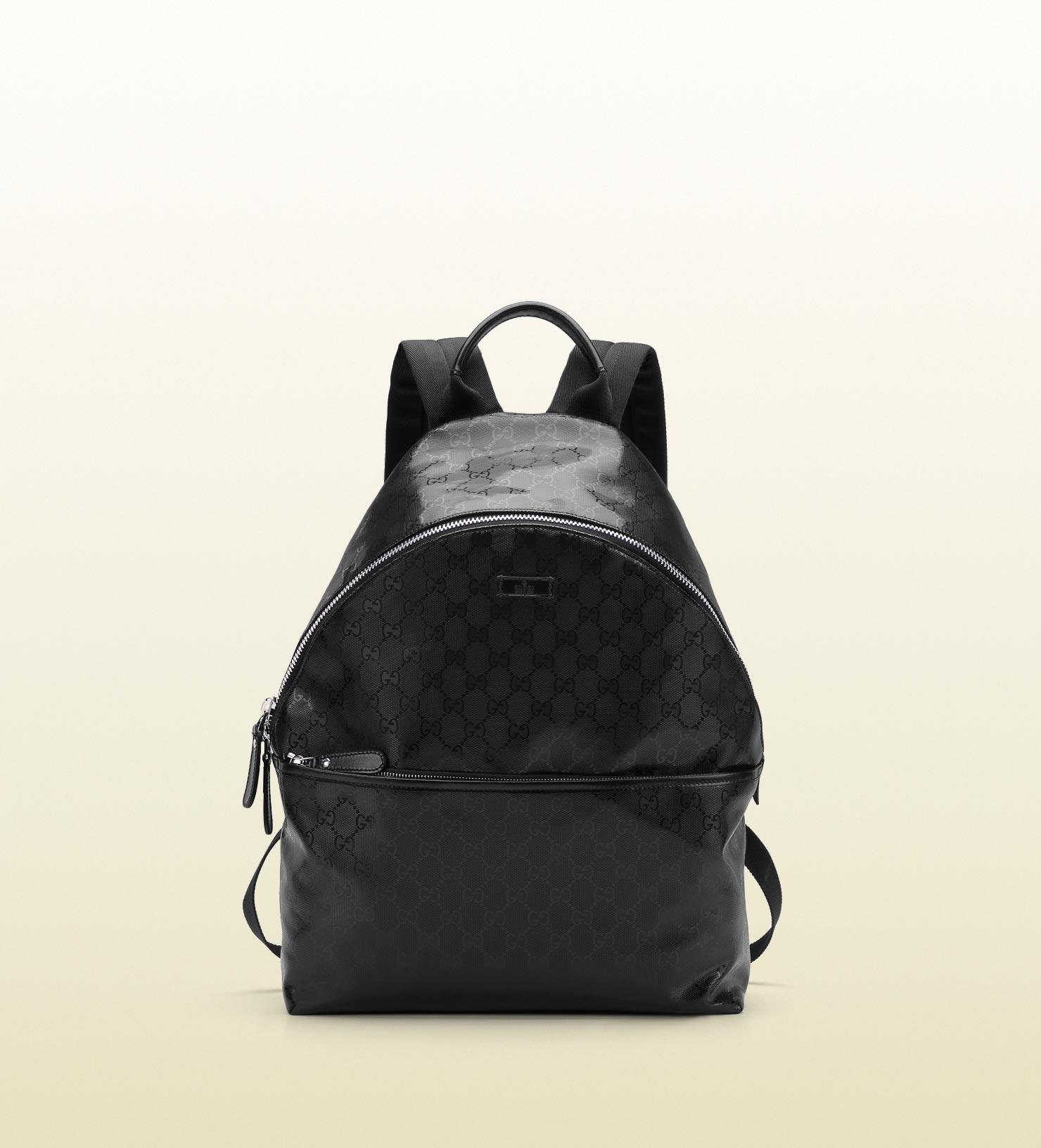 1e6221ee1b3f Lyst - Gucci Gg Imprime Zip Backpack in Black for Men