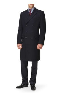 Jaeger Double Breasted Overcoat - Lyst