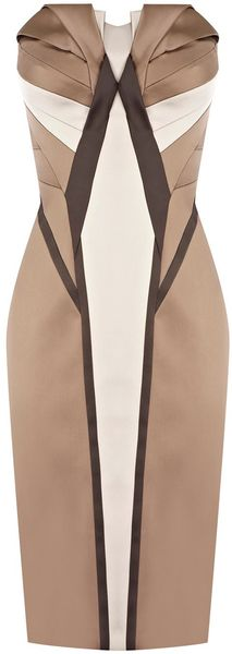 Karen Millen Signature Satin Dress - Lyst