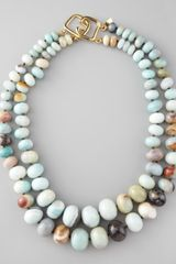 Kenneth Jay Lane Graduated Amazonite Necklace - Lyst