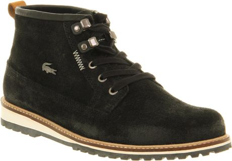 Lacoste Delevan Hiker New Black Leather in Black for Men