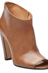 Maison Martin Margiela Open Toe Booties in Brown (tan) - Lyst