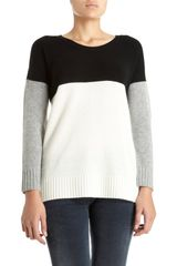 Mason by Michelle Mason Colorblocked Crewneck Sweater - Lyst