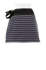 Proenza Schouler Blended Tweed Wrapmini Skirt with Nappa Leather Trimming and Fastening Links in Gray - Lyst