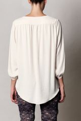 Rag & Bone Magarastra Silky Shirt in Beige (cream) - Lyst
