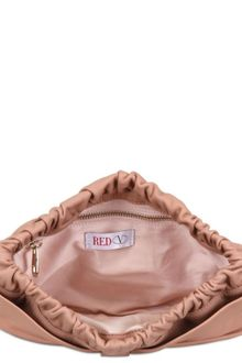 RED Valentino Textured Leather Bow Clutch - Lyst