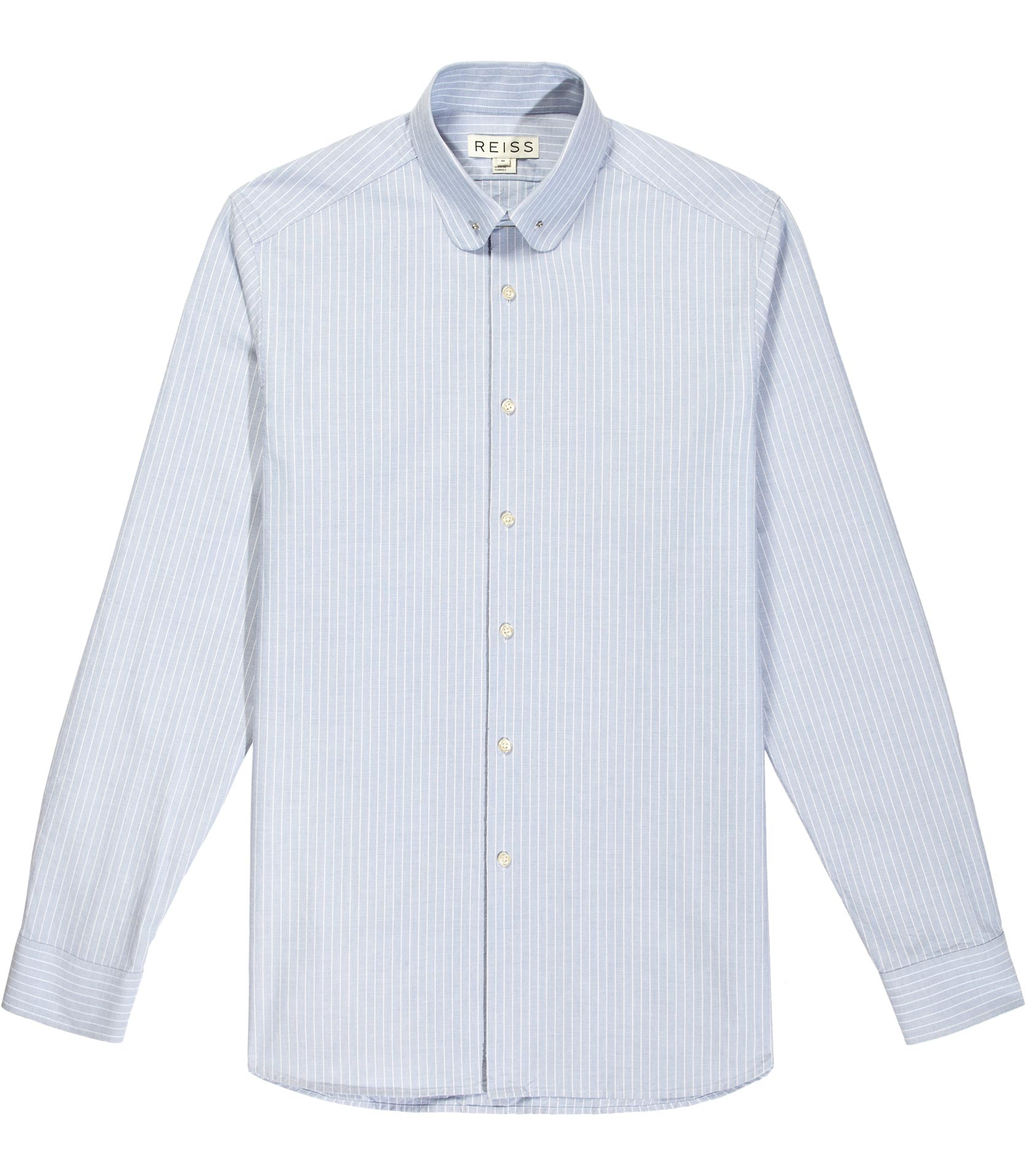 Reiss Wide Stripe Collar Bar Shirt In Blue For Men Lyst