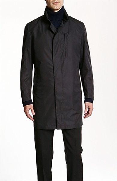 Sanyo Travel Top Coat In Black For Men Lyst