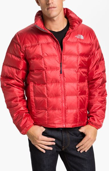 The North Face Thunder 800 Down Fill Puffer Jacket In Red