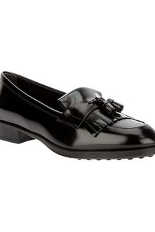Tod's Leather Tassel Loafers - Lyst