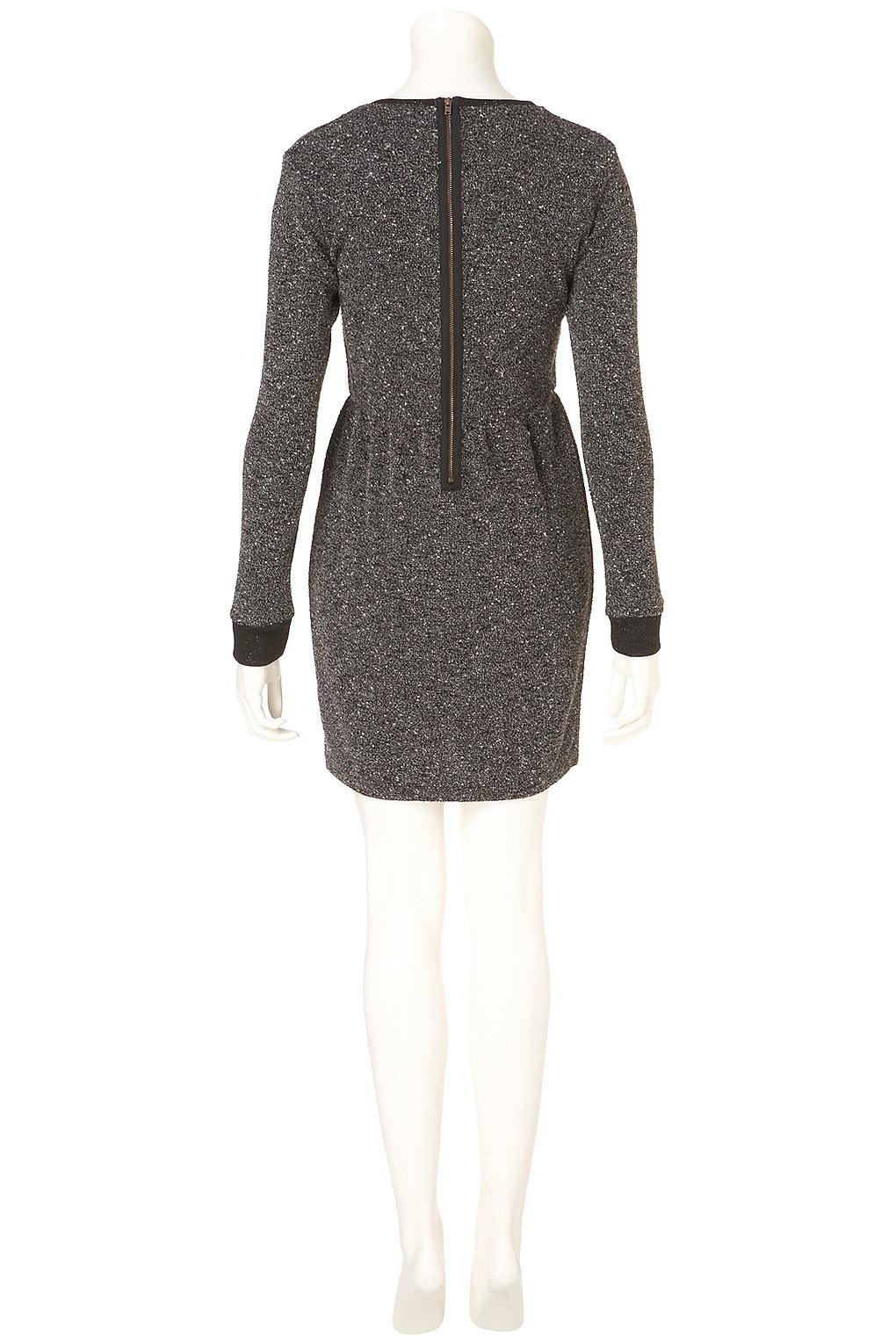 55f598b2292 Lyst - TOPSHOP Boucle Sweater Dress in Gray