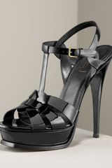 Saint Laurent Tribute Platform Sandal - Lyst