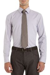 Armani Micro Check Dress Shirt - Lyst