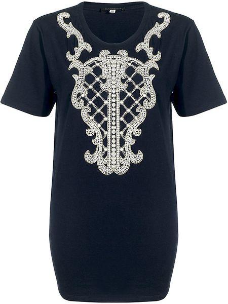 Balmain Pearl Tshirt in Black (pearl)