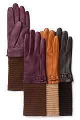 Echo Leather Gloves with Knit Cuff - Lyst