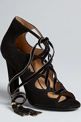 Ferragamo Lace Up Evening Sandals Tyla