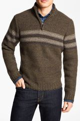 Hickey Freeman Quarter Zip Lambswool Sweater - Lyst