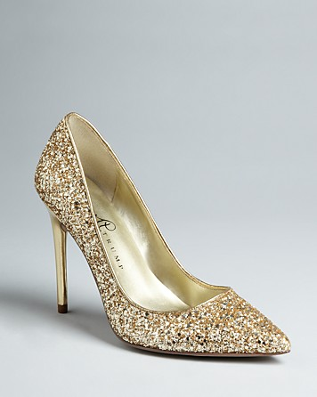 9a6bc9ba5a08 Lyst - Ivanka Trump Pointed Toe Platform Pumps Kaydena Glitter in ...