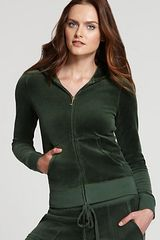 Juicy Couture Long Sleeve Original Terry Hoodie - Lyst