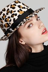 Juicy Couture Leopard Cropped Fedora in Animal (leopard) - Lyst