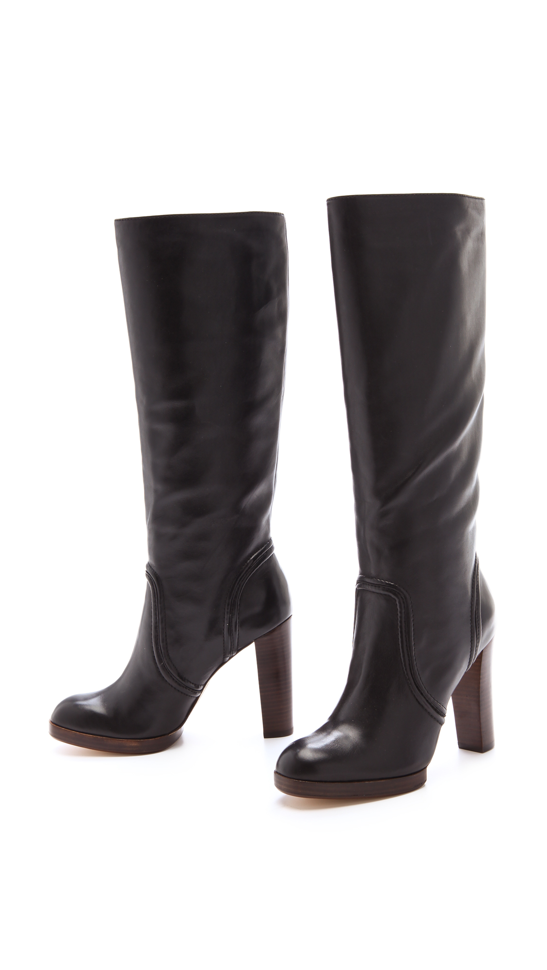 kors by michael kors aila high heel boots in black lyst