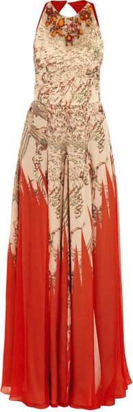 Matthew Williamson Imperial Eagle Beaded Gown - Lyst