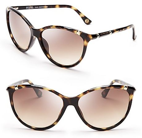 Michael Kors Michael Cateye Sunglasses in Black (antique tortise) - Lyst