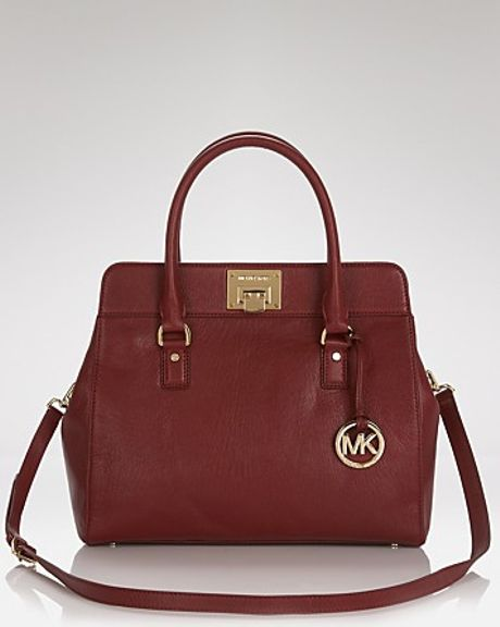 Michael Kors Michael Satchel Astrid Large in Red (claret)