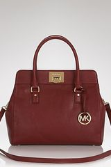 Michael Kors Michael Satchel Astrid Large in Red (claret) - Lyst
