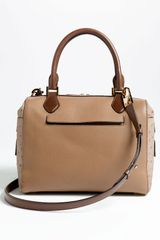 Michael Kors Gia Embossed Leather Satchel in Brown (desert) - Lyst