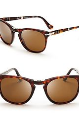 Persol Polarized Folding Keyhole Sunglasses - Lyst