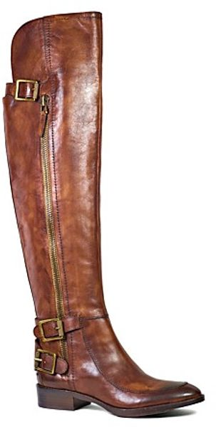 Sam Edelman Over The Knee Flat Moto Boots Paulina - Lyst