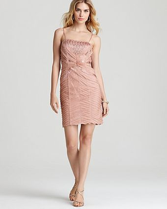 Sue Wong Beaded Dress Spaghetti Strap - Lyst